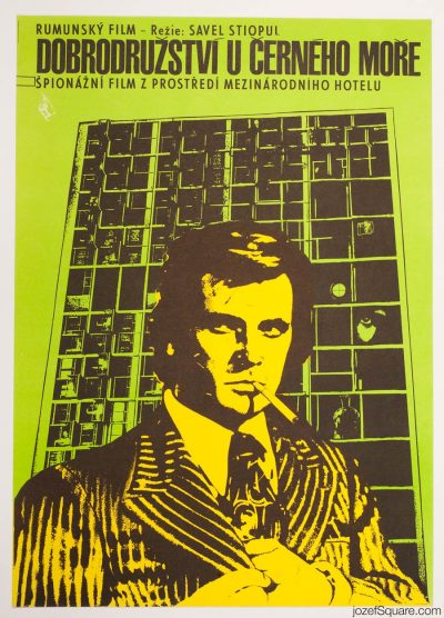 Movie Poster, Black Sea Adventures, 70s Cinema Art