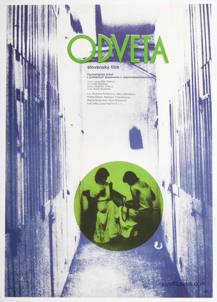 Movie Poster, Revenge, 80s Cinema Art