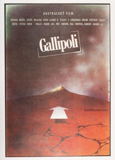 Movie Poster, Gallipoli, 80s Cinema Art