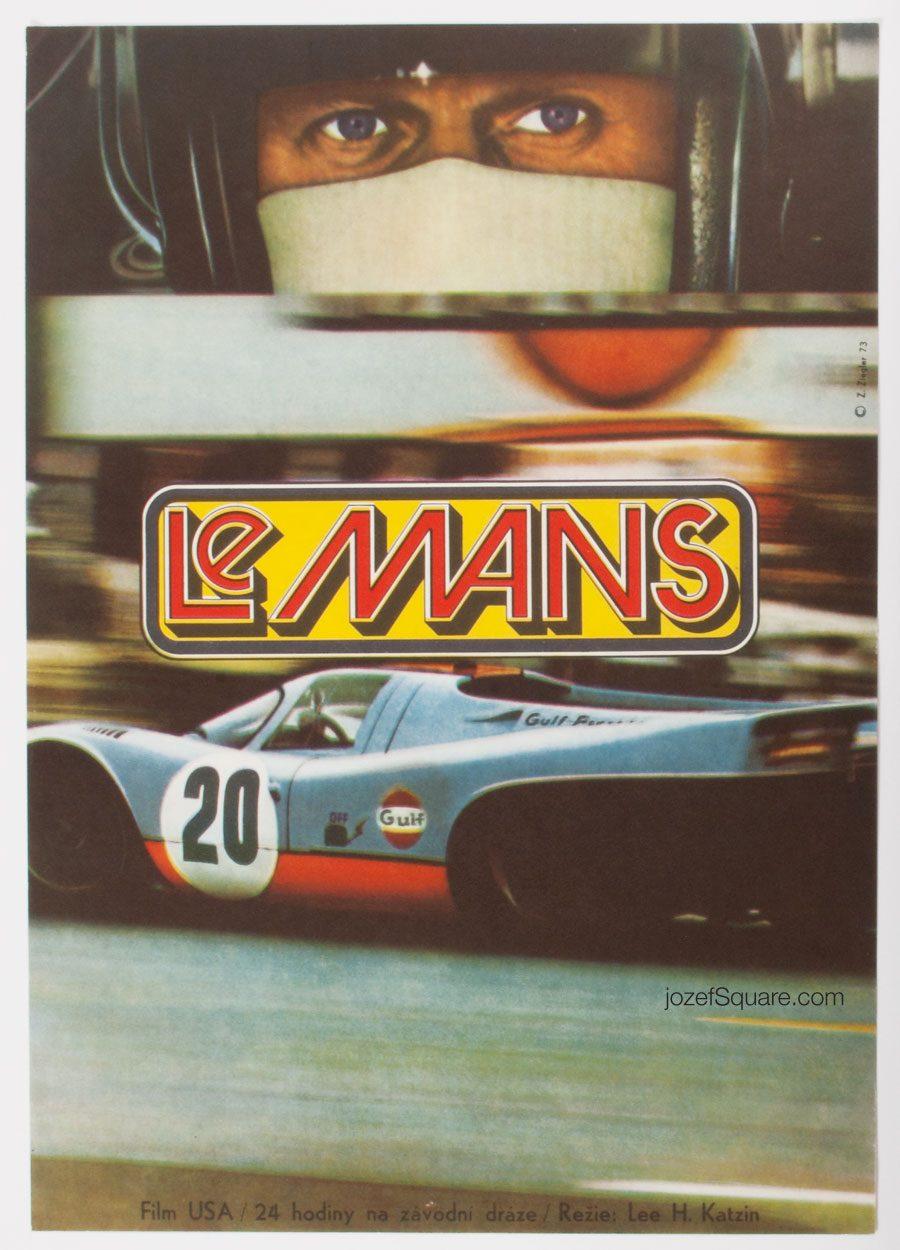 Le Mans Movie Poster, Zdenek Ziegler