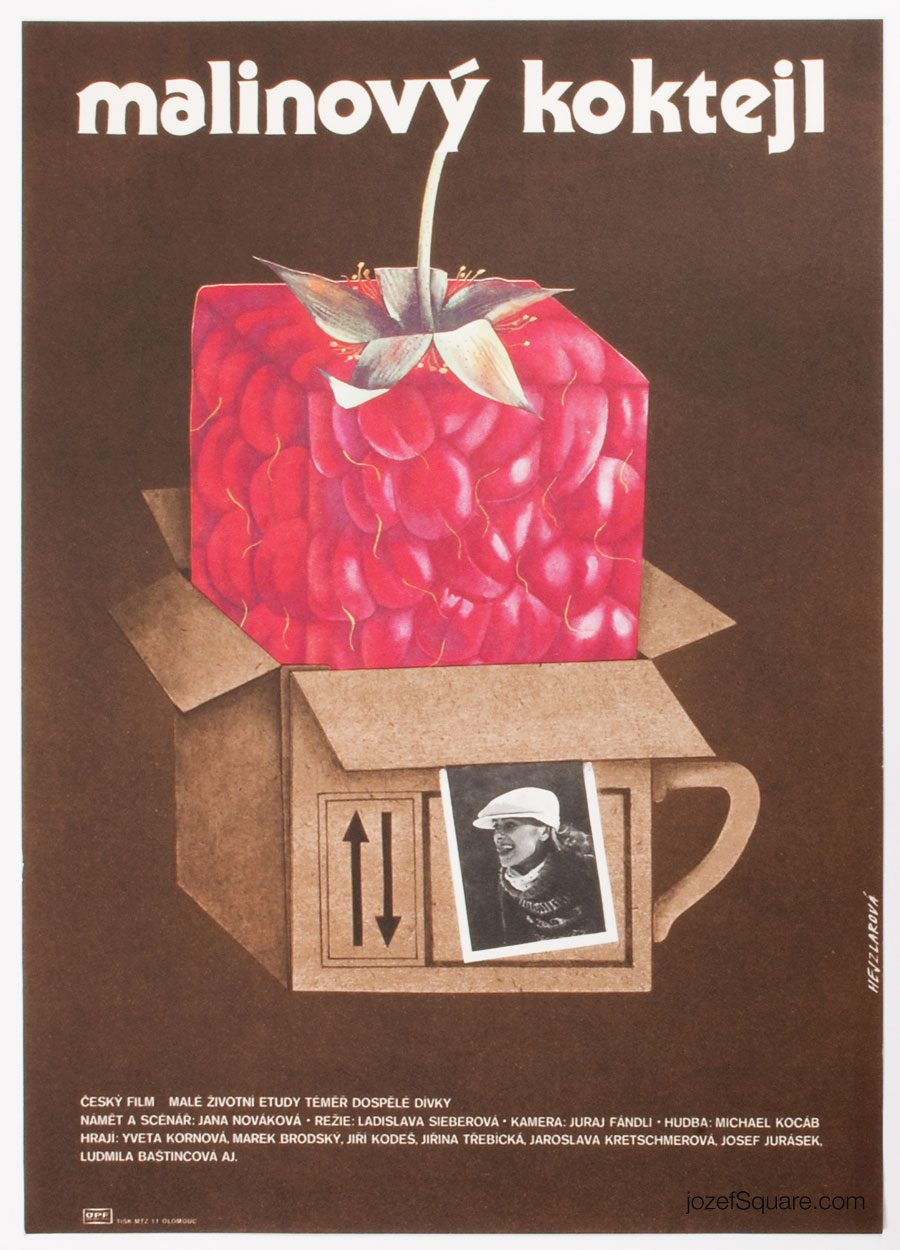 Movie Poster, A Raspberry Milkshake, Hana Hejzlarova