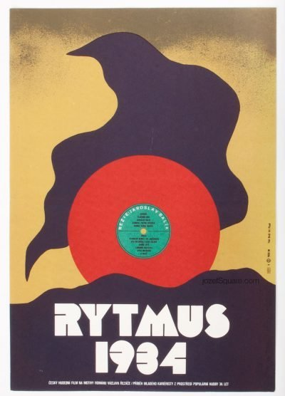 Movie Poster, Rytmus 1934, Karel Vaca
