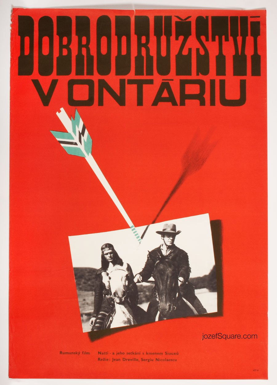 Western Movie Poster, Leatherstocking Tales, 70s Cinema Art