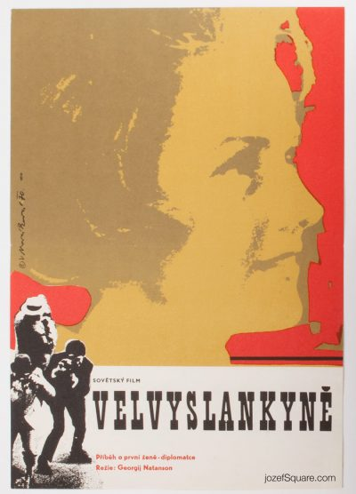 Movie Poster, Ambassador of the Soviet Union, Vera Novakova
