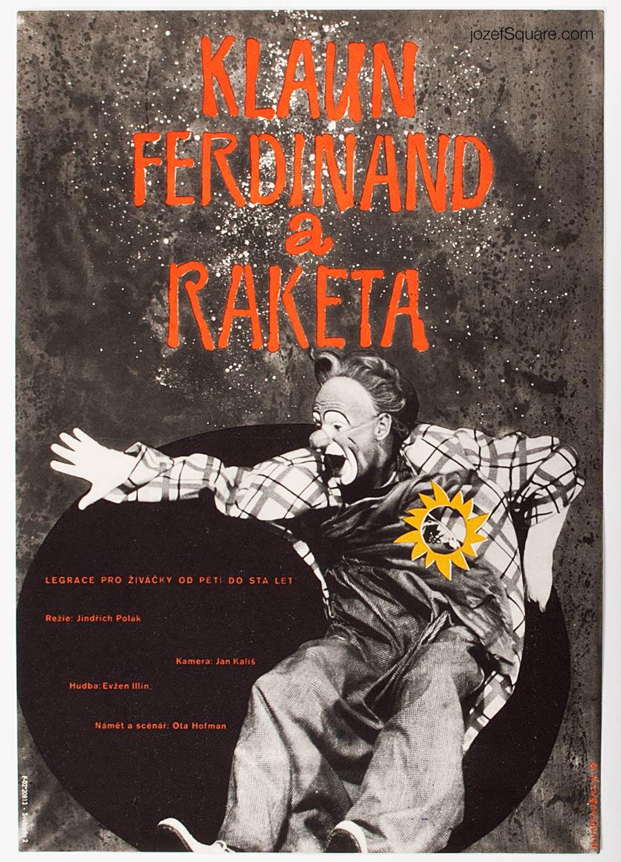 Movie Poster, Clown Ferdinand and the Rocket, Dimitrij Kadrnozka