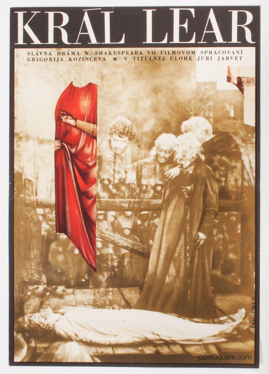 King Lear Movie Poster, Kveta Pacovska