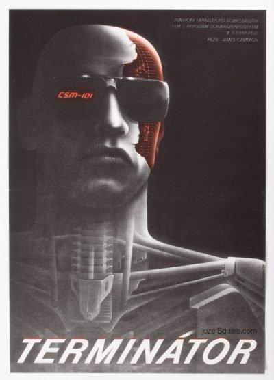 Terminator Movie Poster, Milan Pecak