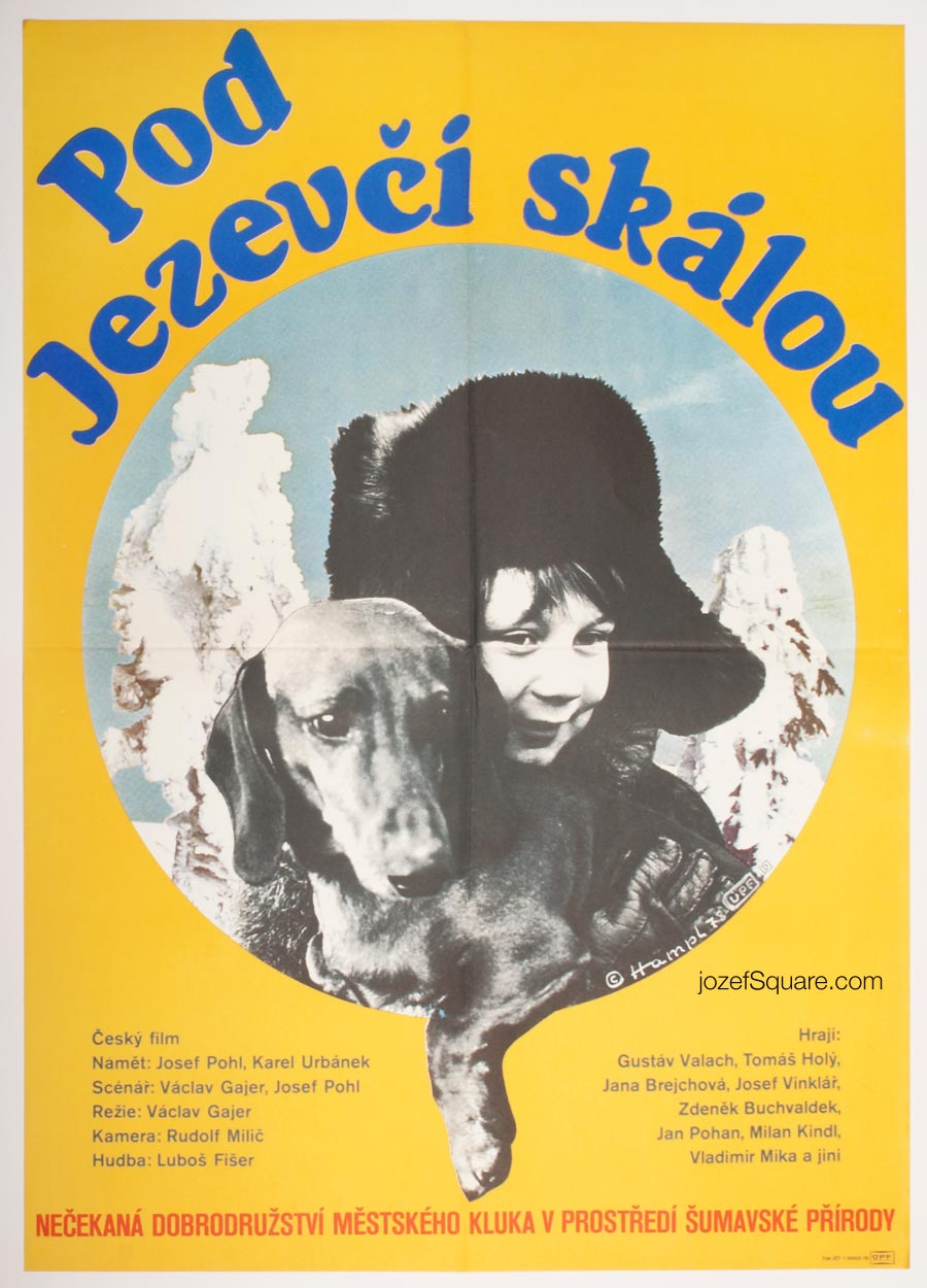 Movie Poster, Under the Badger's Rock, 70s Cinema Art