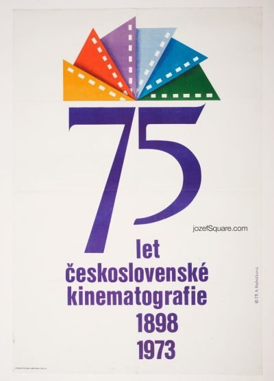 Movie Poster, 75 Years of Czechoslovak Cinematography, Alena Hubickova