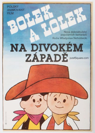 Movie Poster, Bolek and Lolek in Wild West, Michal Hendrych