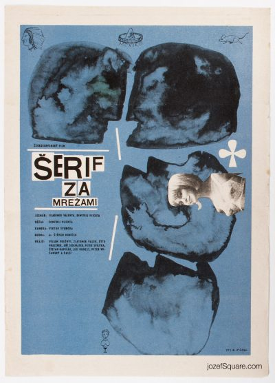 Movie Poster, Sheriff Behind the Bars, Milan Pasteka