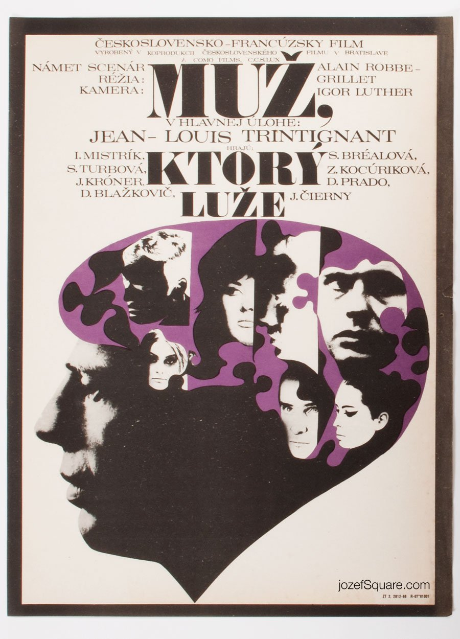 Movie Poster, The Man Who Lies, Milan Vesely