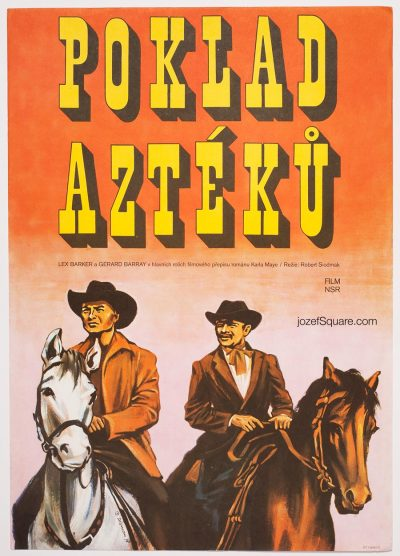 Movie Poster, The Treasure of the Aztecs, Miloslav Disman