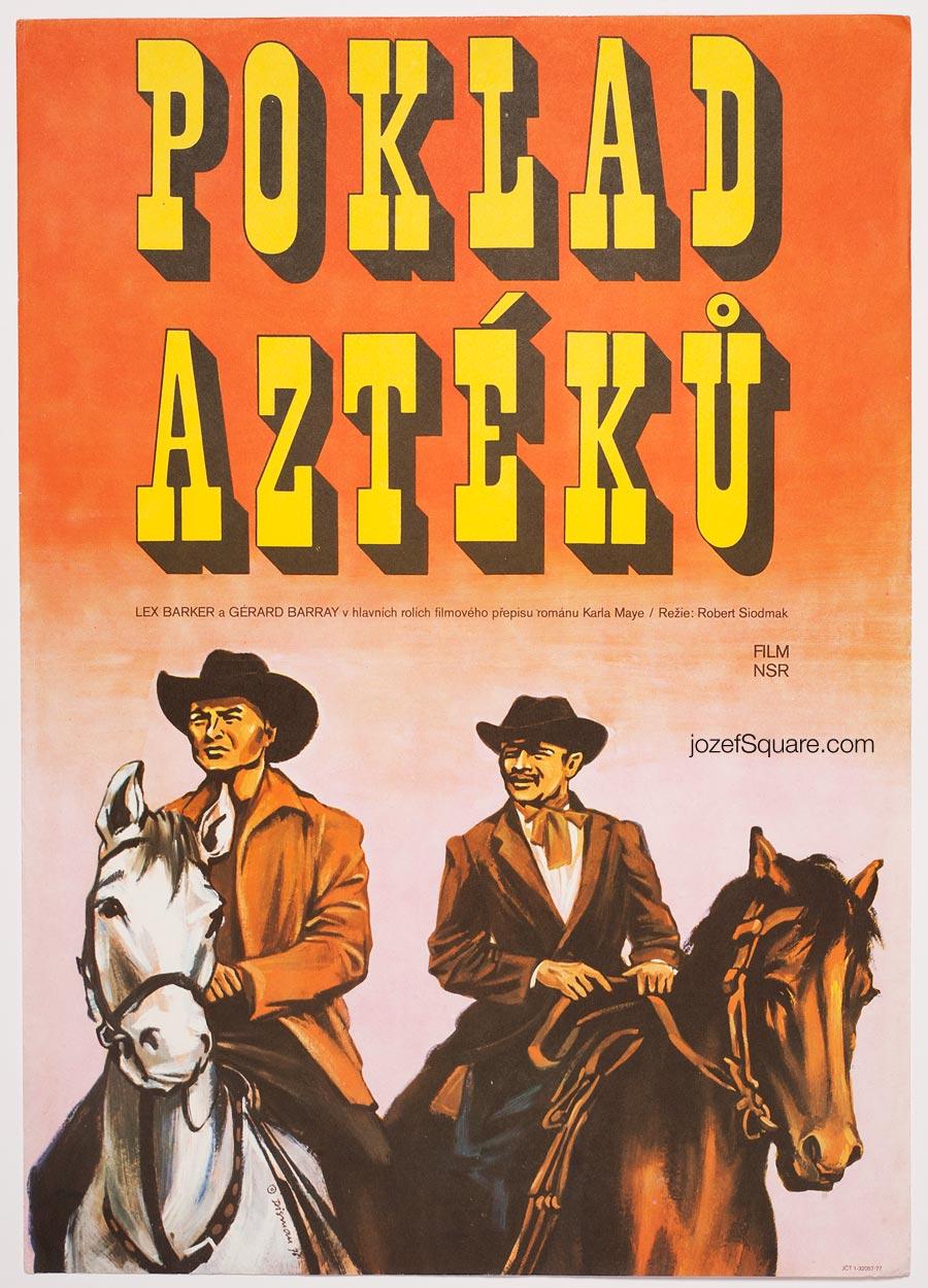 Movie Poster, The Treasure of the Aztecs, Miloslav Disman