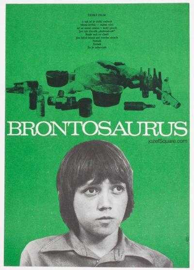 Movie Poster, Brontosaurus, Unknown Artist