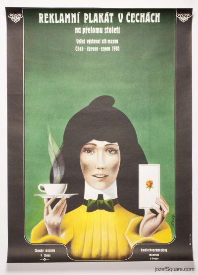 Exhibition Poster, Advertising Poster in Bohemia, Zdenek Vlach