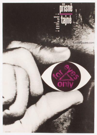 Movie Poster, For Eyes Only, Zdenek Ziegler