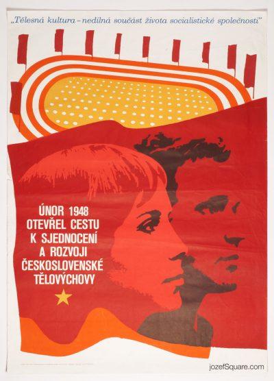 Propaganda Poster, February 1948, Jaroslav Kodejs