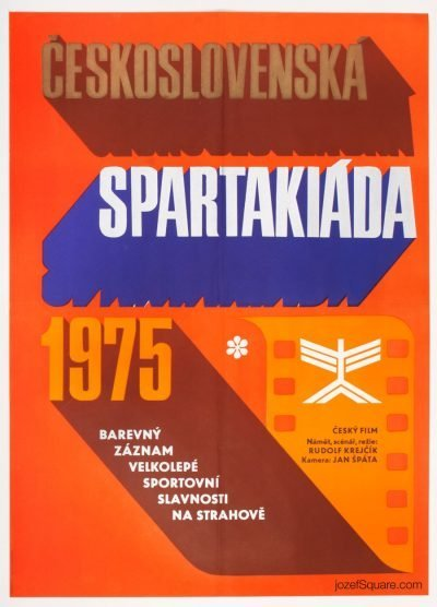 Movie Poster, Czechoslovak Spartakiad, Miloslav Disman