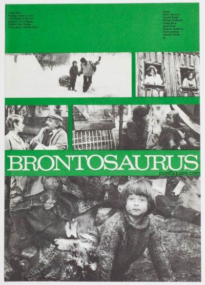 Movie Poster, Brontosaurus, 80s Cinema Art