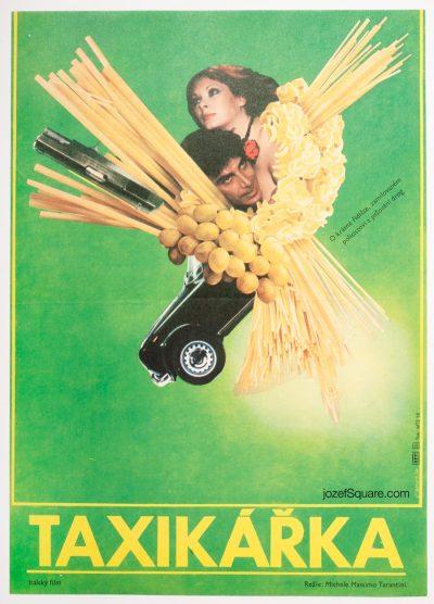 Movie Poster, Taxi Girl, Vladimir Benetka