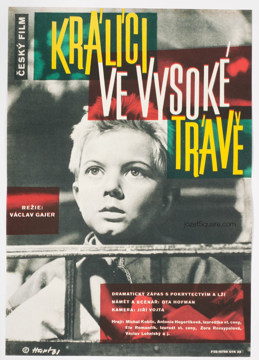 Movie Poster, Rabbits in Tall Grass, Zdenek Hart