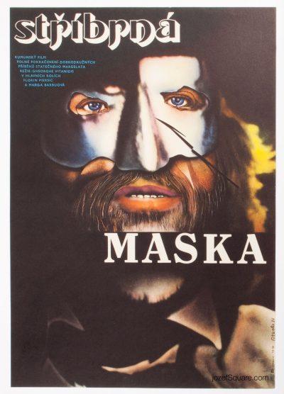 Movie Poster, Silver Mask, Zdenek Ziegler