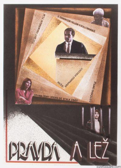 Movie Poster, The True and the False, Zdenek Ziegler