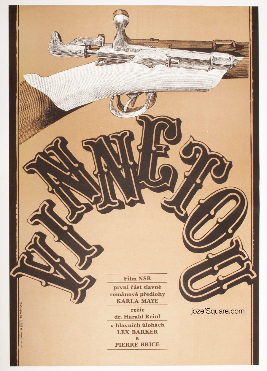 Movie Poster, Winnetou the Warrior, Zdenek Ziegler