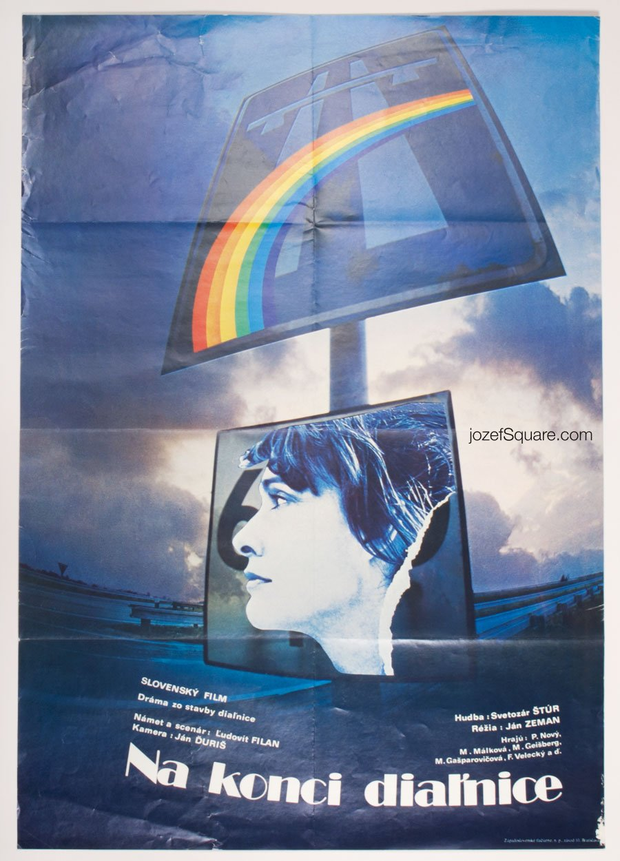 Movie Poster, At the End of a Motorway, Dana Orvanova