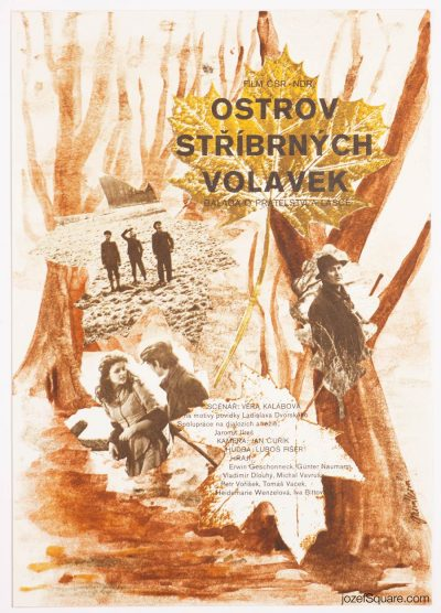 Movie Poster, Island of the Silver Herons, Jana Novakova