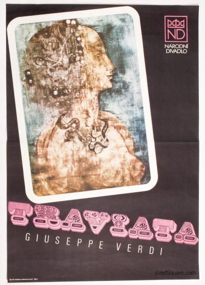 Theatre Poster, Traviata, Jiri Anderle, Bronislav Maly