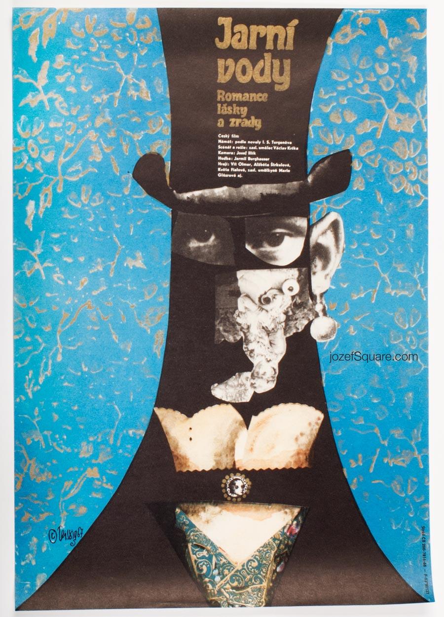 Movie Poster, Spring Waters, Karel Teissig