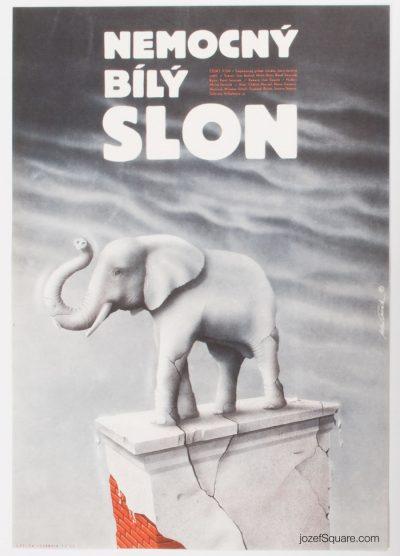Movie Poster, Weak White Elephant, Milan Pecak