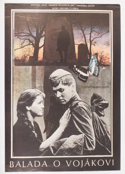 Movie Poster, Ballad of a Soldier, Miroslav Hlavacek