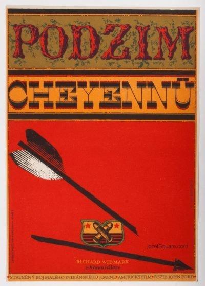 Movie Poster, Cheyenne Autumn, Zdenek Ziegler