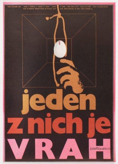 Movie Poster, One of Them is the Murderer, Zdenek Ziegler