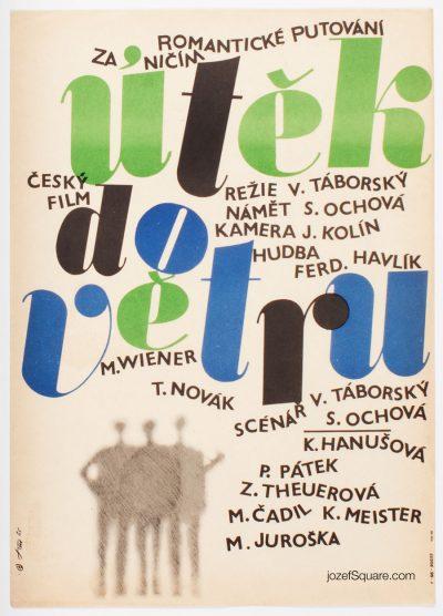Movie Poster, Escape into the Wind, Jaroslav Fiser