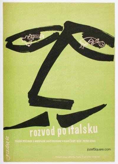 Movie Poster, Divorce Italian Style, Josef Flejsar