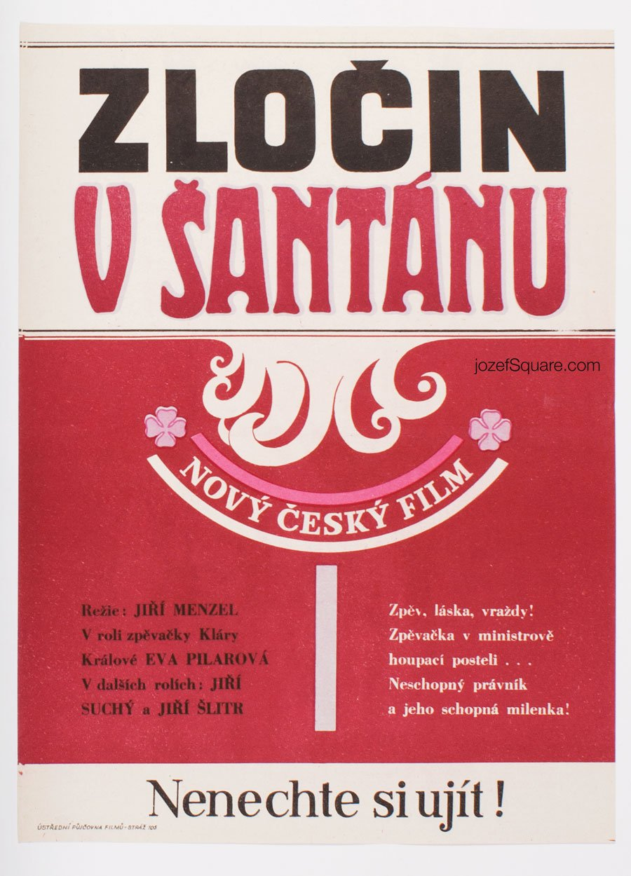 Movie Poster, Crime in Night Club, Jiri Menzel