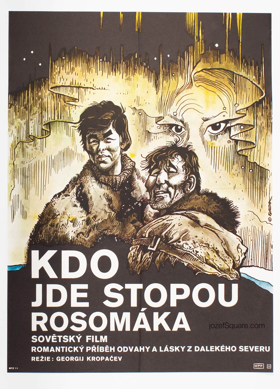 Movie Poster, Tracks of the Wolverine, Karel Saudek