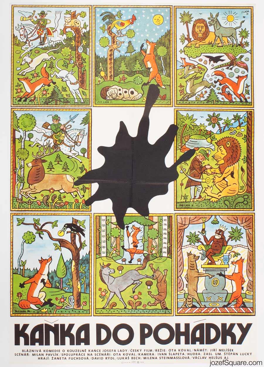 Children's Movie Poster, Blot In the Story Book, Josef Lada
