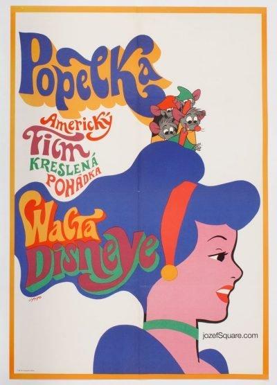 Movie Poster, Cinderella, Walt Disney, Karel Vaca