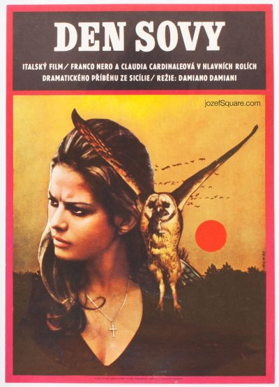 Movie Poster, Claudia Cardinale, Day of the Owl