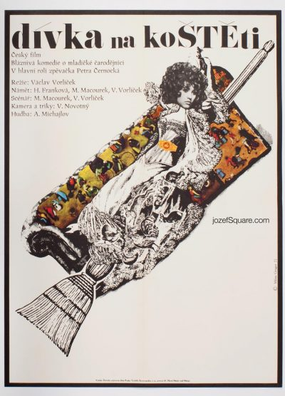 Surreal Movie Poster, The Girl on the Broomstick, Milan Grygar