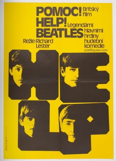 Beatles Movie Poster, Help, Pavel Jasansky