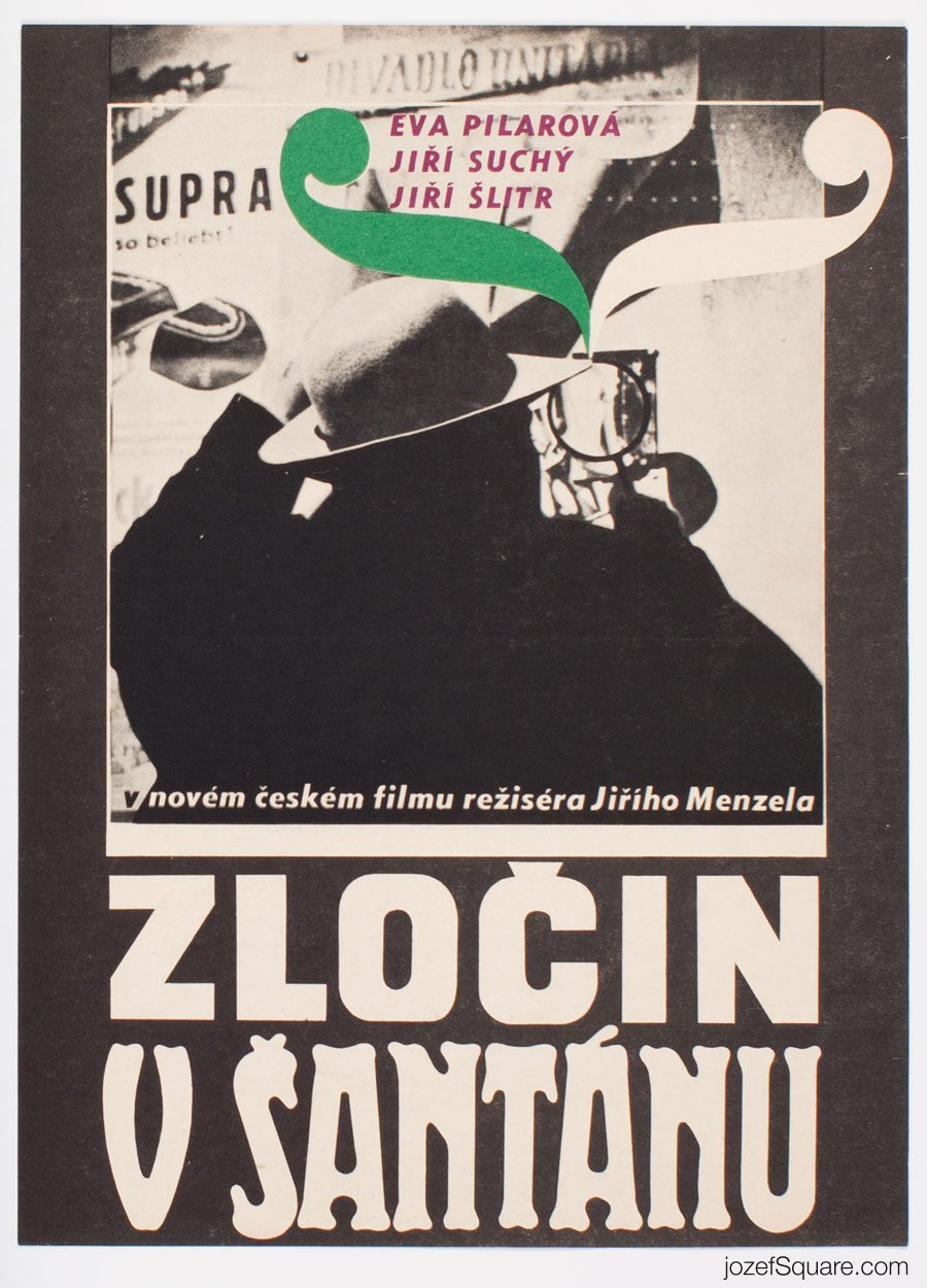 Movie Poster, Crime in Night Club, 60s Cinema Art