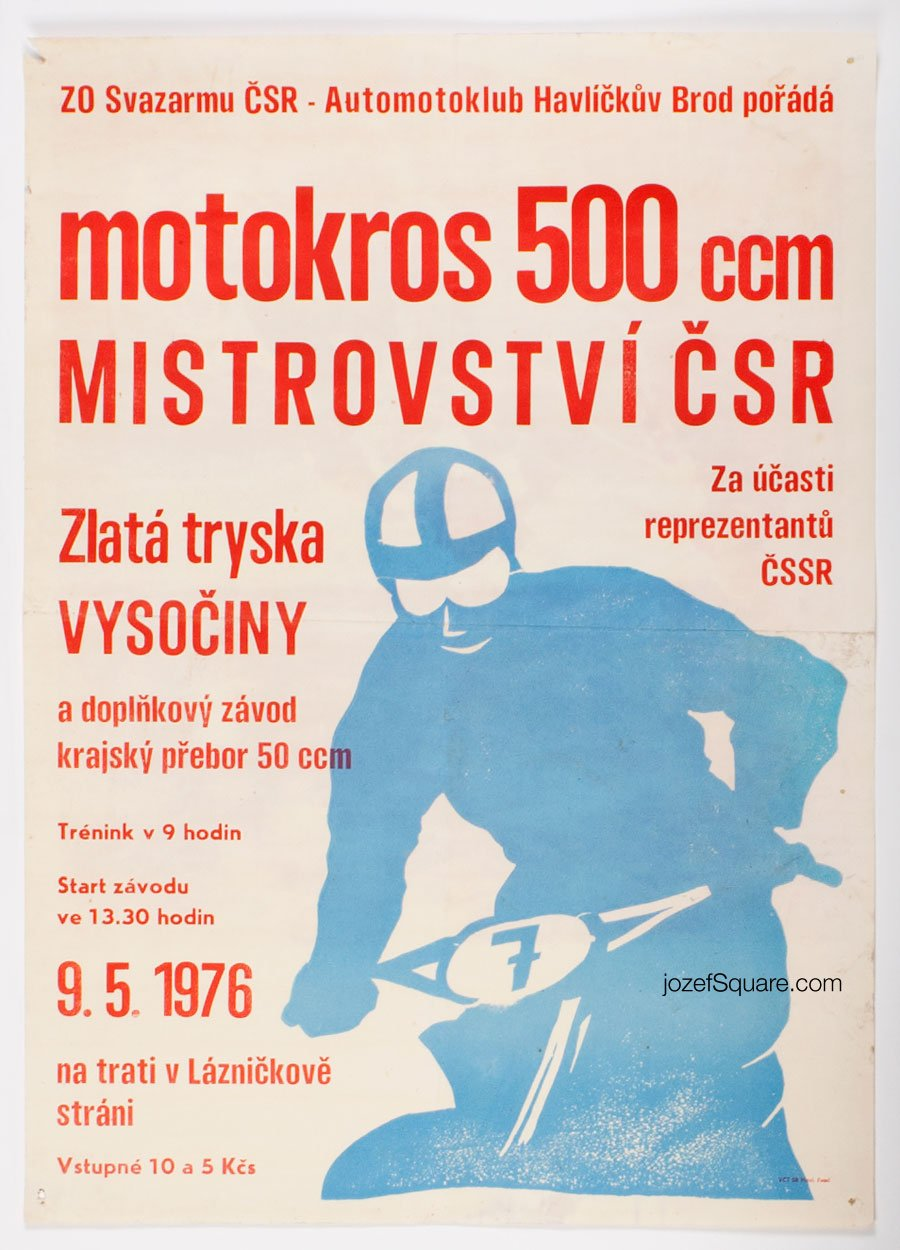Racing Poster, Motocross 500 ccm, Czechoslovak Championship