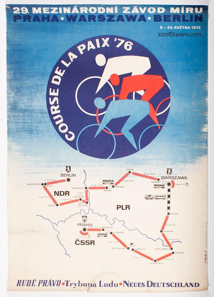 Cycling Poster, 29th Course de la Paix, The Peace Race