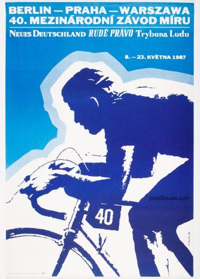 Cycling Poster, 40th Course de la Paix, The Peace Race